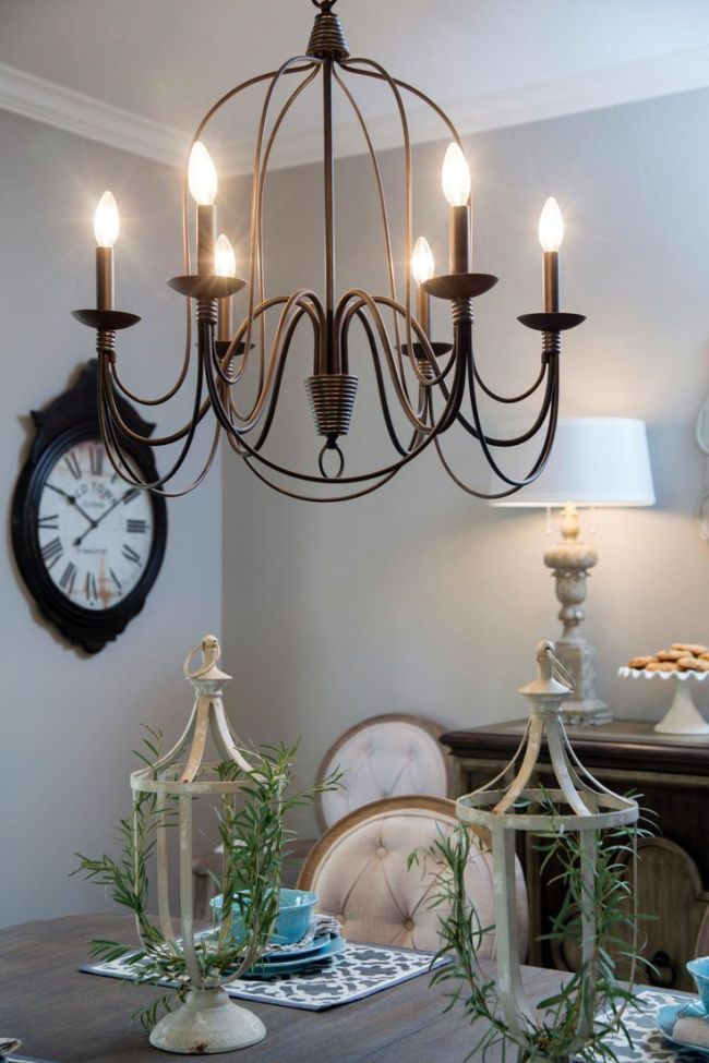 Joanna Gaines Farmhouse Dining Room Lighting