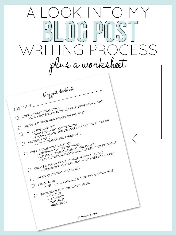 A Look Into My Blog Post Writing Process  Writing Process