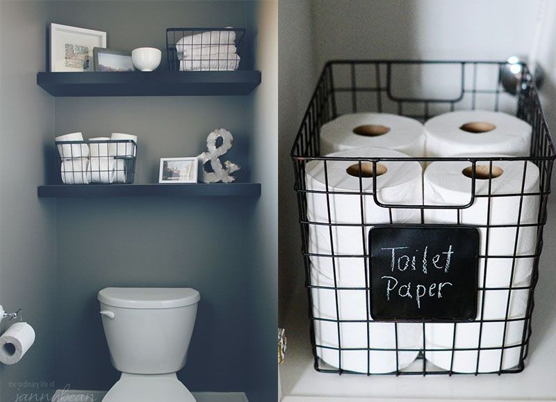 10x Toilet Inspiratie : Opbergen in de badkamer bathroom bathroom toilet