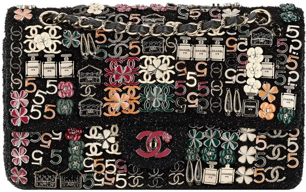 4a018dce1bbc Chanel Classic Flap Bag Embroidered With Charms | Stuff to Buy ...