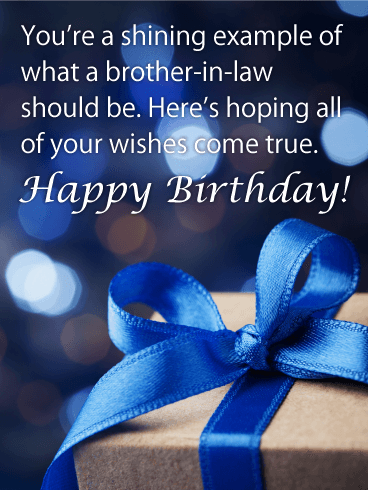 Shining Example Happy Birthday Card For Brother In Law You Think
