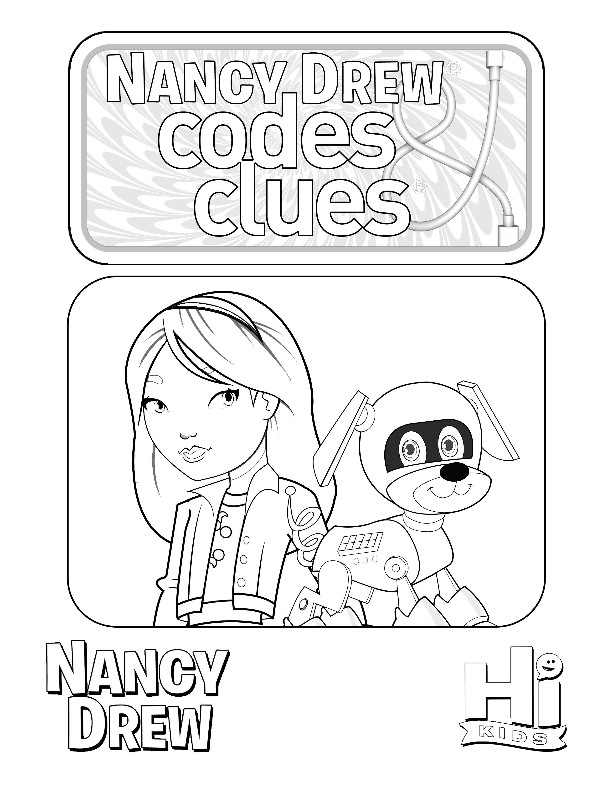 Nancy Drew: Codes & Clues coloring page! Get Nancy Drew: Codes ...
