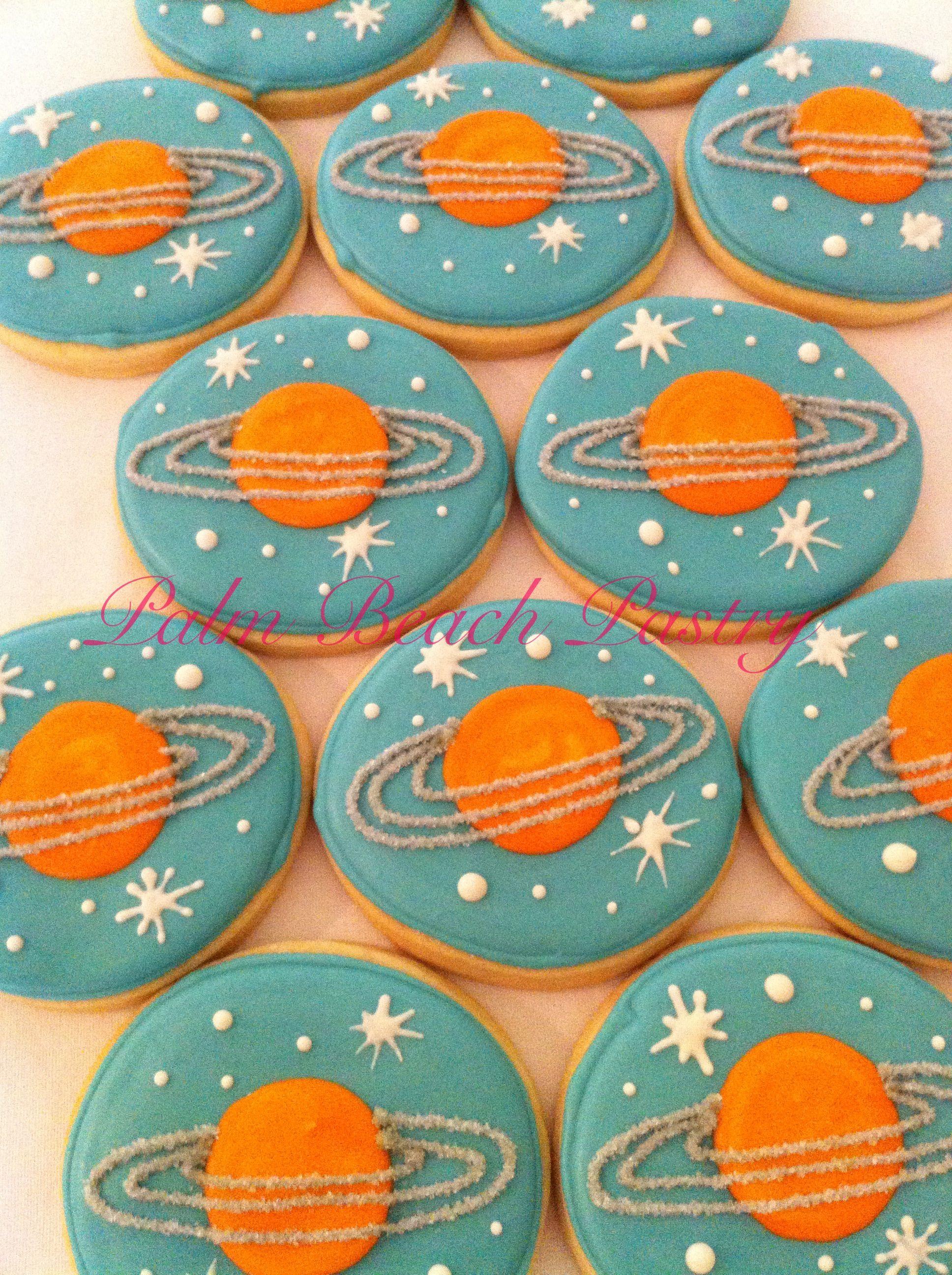 Planet Saturn Cookies