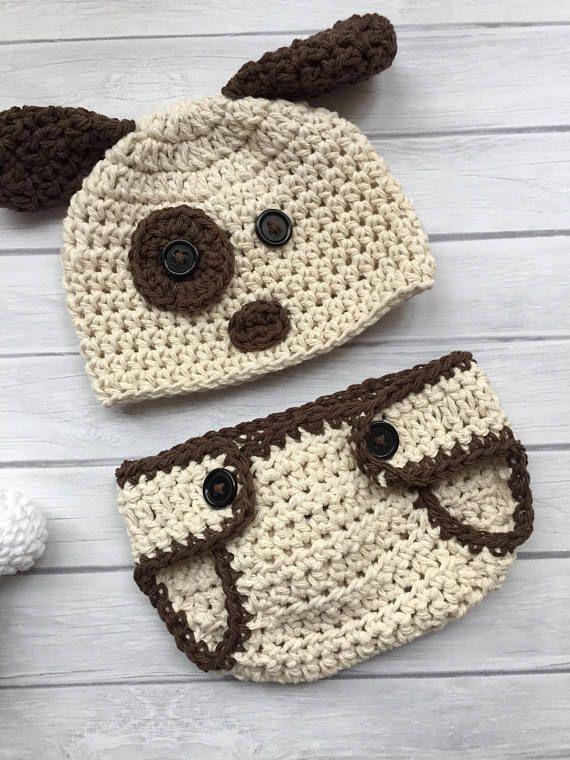 Puppy hat crochet puppy hat baby puppy hat newborn puppy | bebe ...