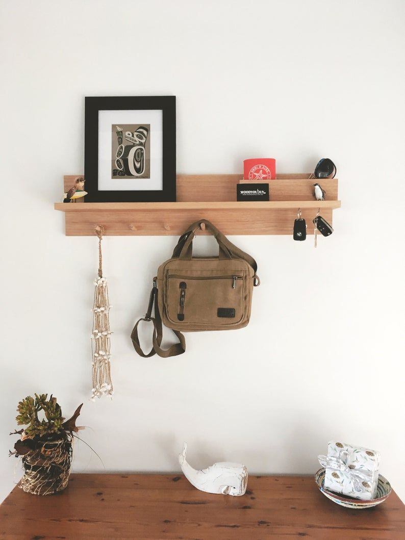 Entryway Organizer 80cm Shelf Entryway Wall Organizer Coat Rack With Shelf Wall Mount Coat Rack Entryway Wall Decor Mail Organizer In 2020 Entryway Organization Entryway Organizer Wall Entryway Organizer Shelf