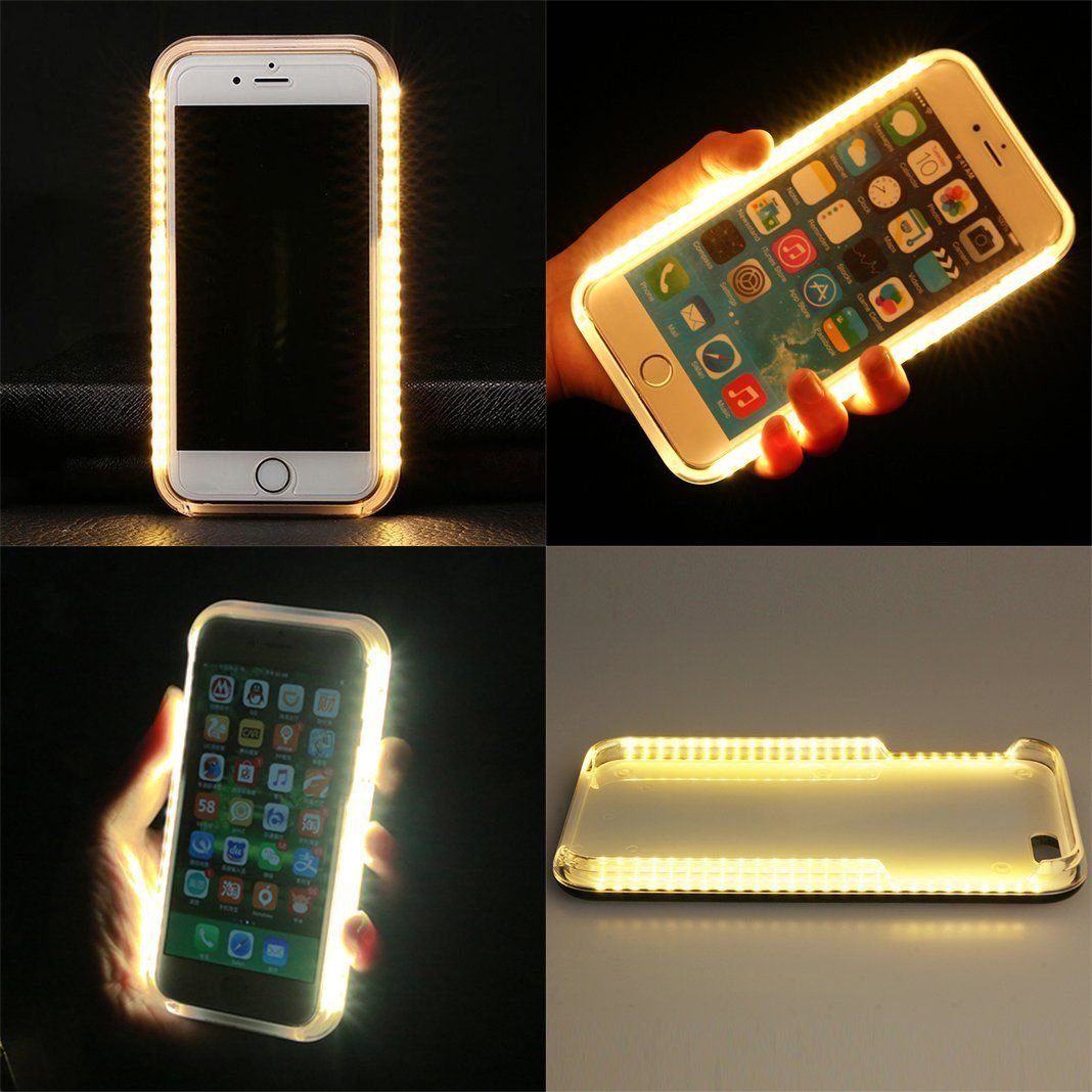 1e8009082f8 iPhone 5 5S SE Case,Asnlove Carcasa Flash LED Iluminado Recargable Funda  Selfie Cell Phone,Caso Duro PC Caja Protectora Case Luz LED Luminoso Selfie  ...