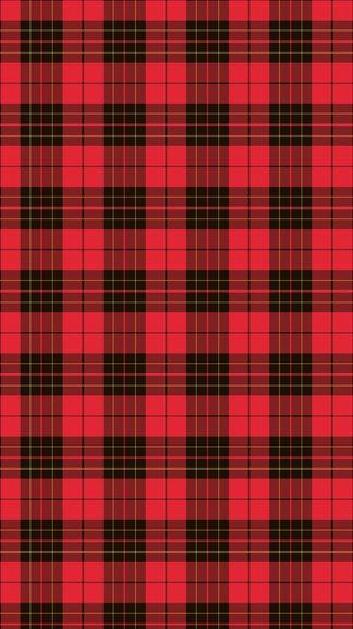 Green and Red Plaid Wallpaper Border
