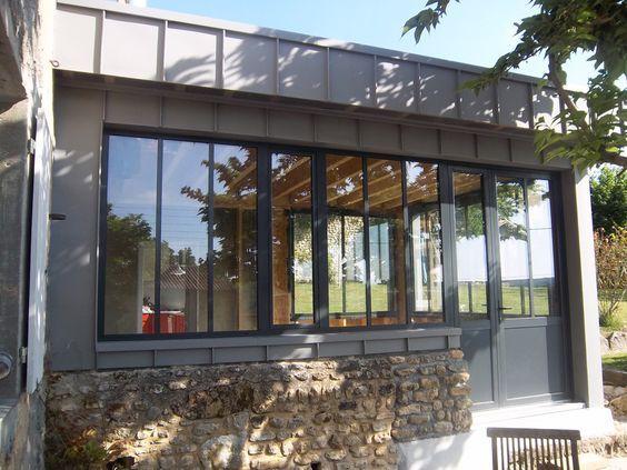 Extension bois zinc bardage Pinterest Extensions, Verandas and