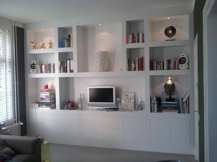 Afbeeldingsresultaat voor wand tv kast woonkamer for Wand woonkamer