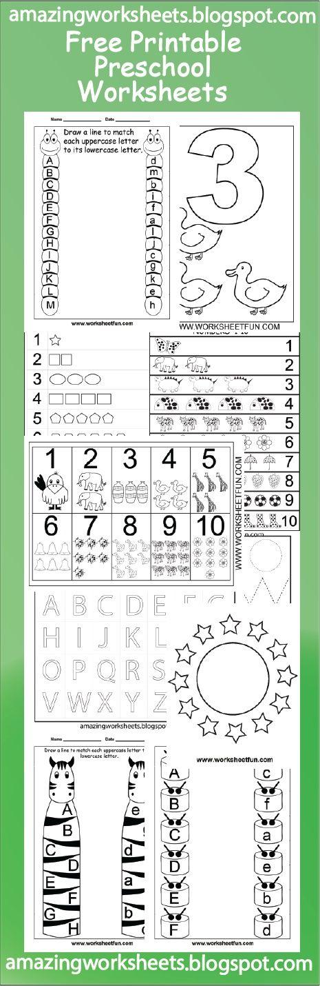 Free Printable Preschool Worksheets | Home Preschool | Pinterest ...