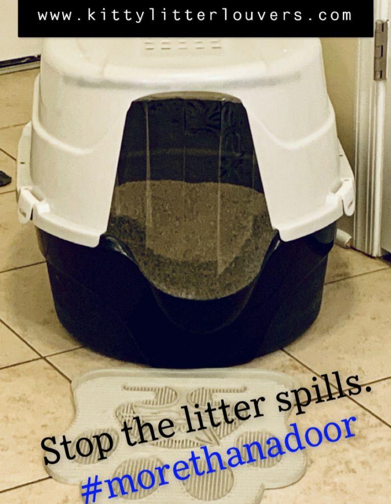 Stop The Litter Spills Get A Kitty Litter Louvers Door For Your Litter Box Litterspills Kittylitterlouvers Litterboxdoor E Litter Box Litter Pet Safe