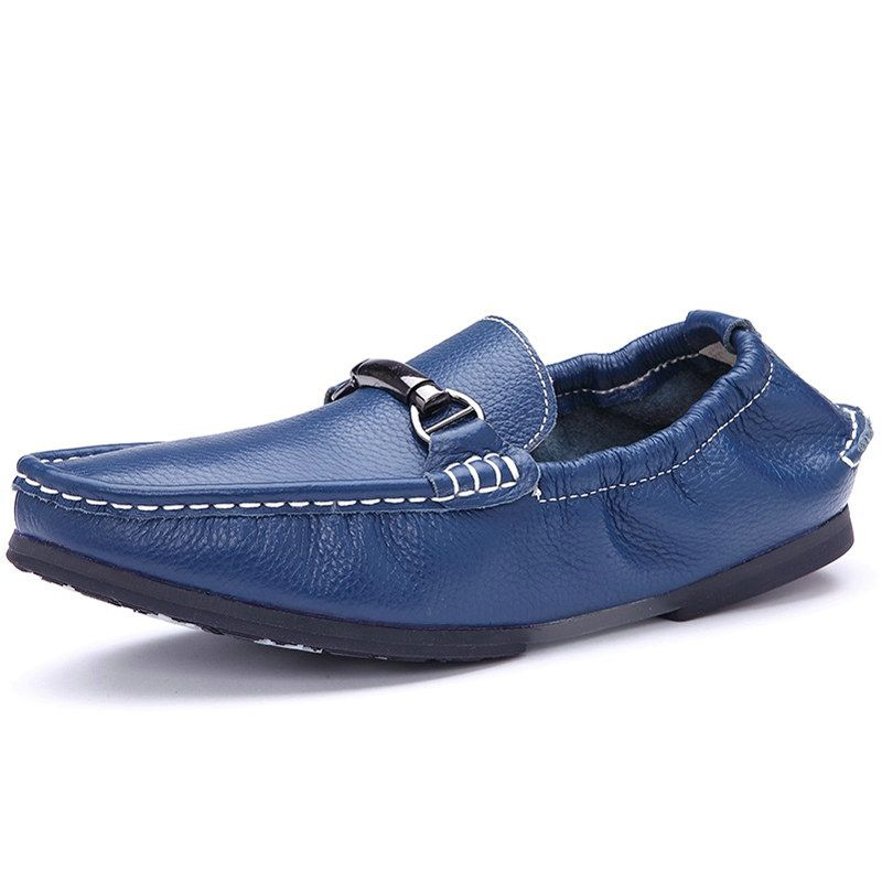 923073e58a2 Italian Style Men Designer Loafers Shoes Men s Top Brand Shoes Flat Driving  Moccasins Black Blue Wine Red White Size 39 to 44