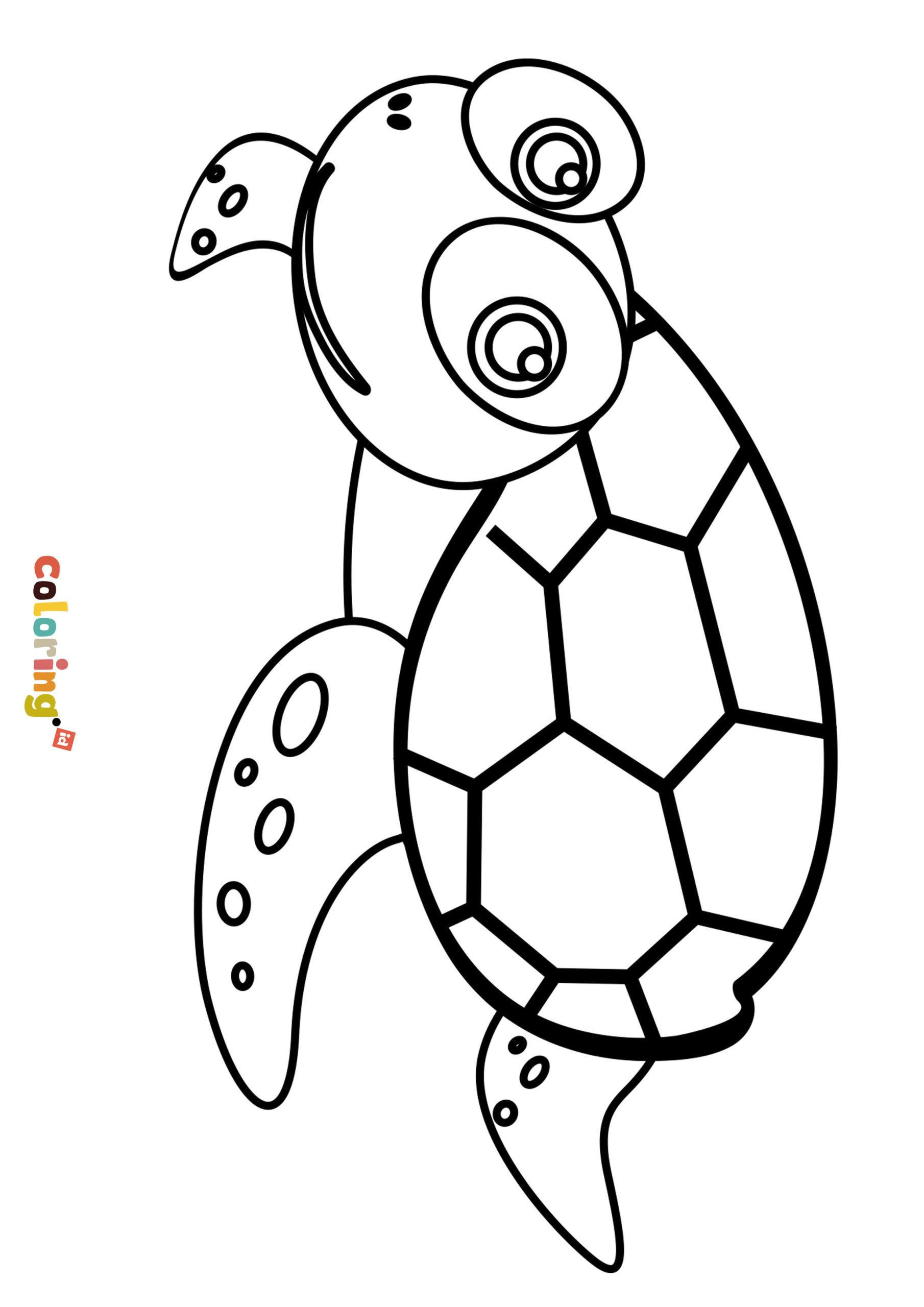 Turtle Coloring Page For Kids All Animal Coloring Pages Collection For Preschool Kindergarten And Turtle Coloring Pages Animal Coloring Pages Coloring Pages
