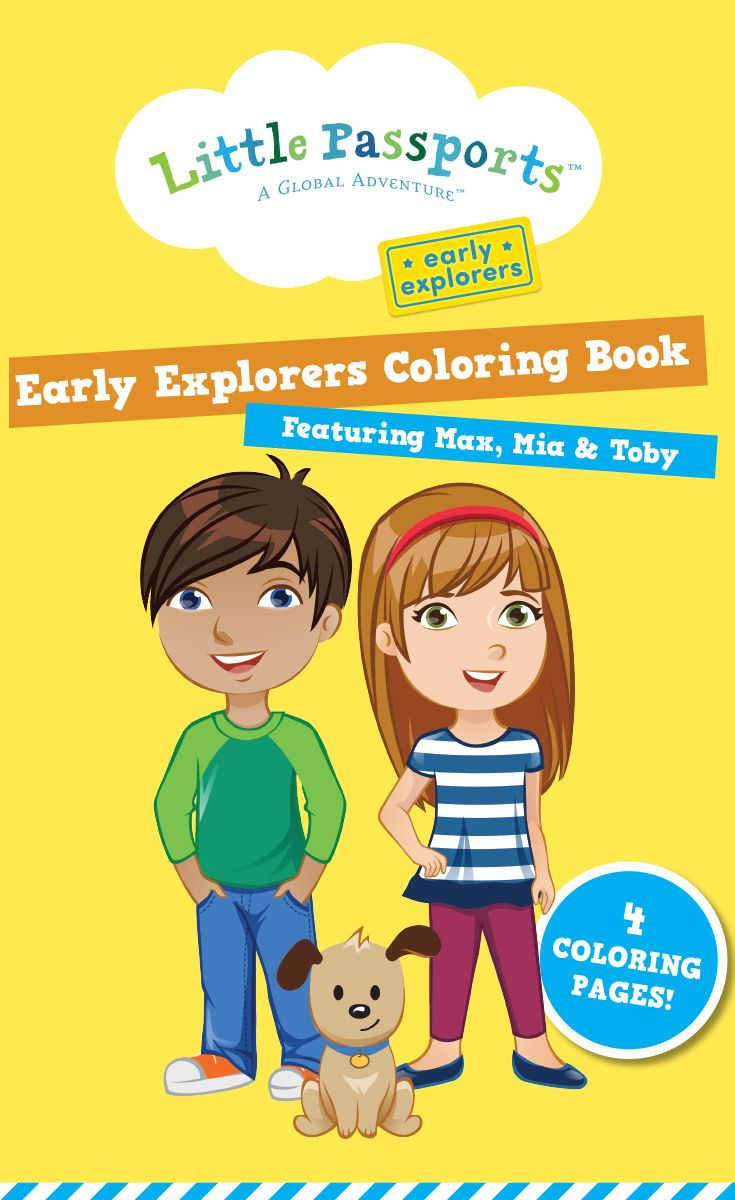 Keep The Kiddos Busy With FREE Printable Coloring Pages Featuring Early Explorers Characters Max