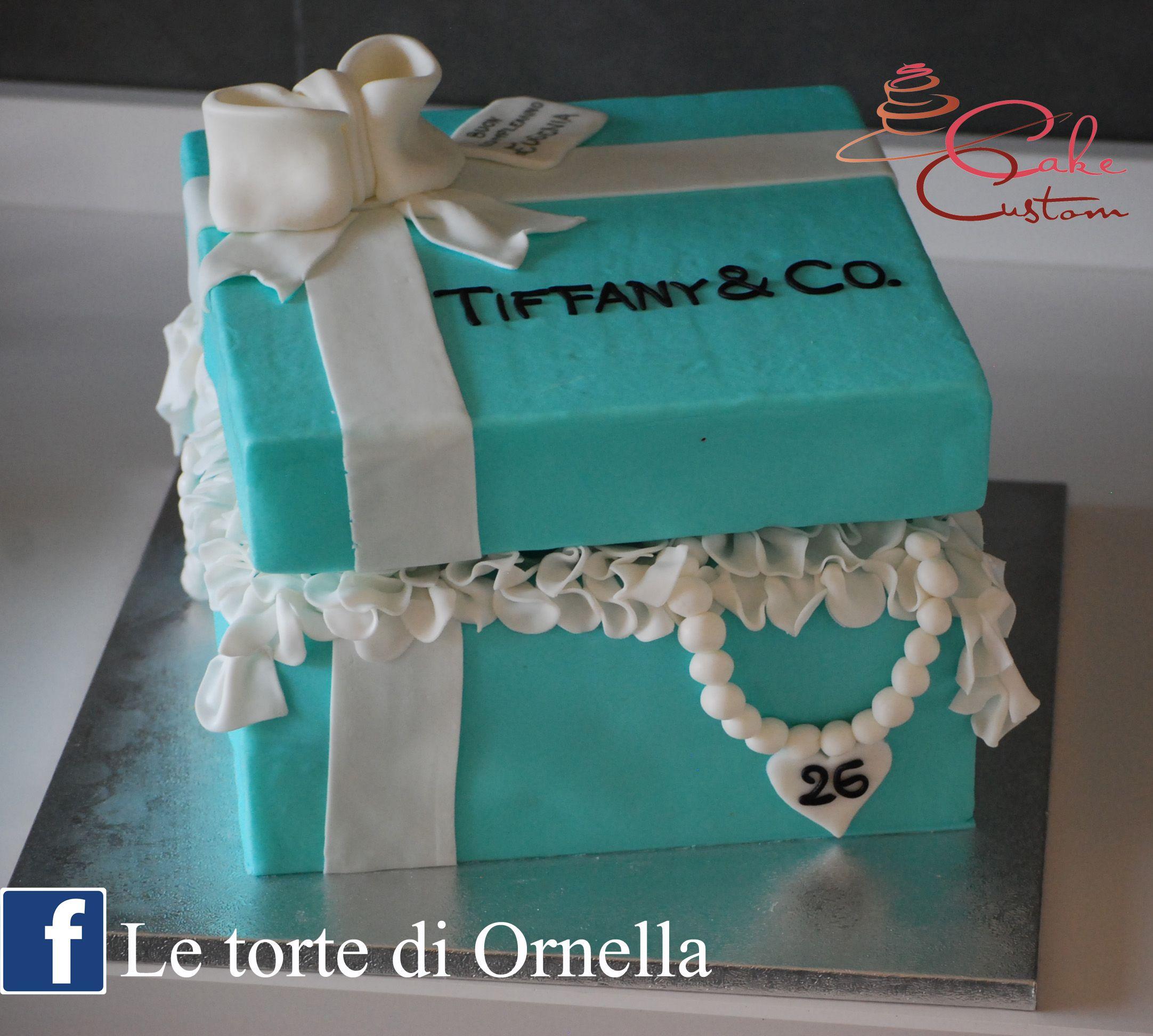 scatola di Tiffany cake
