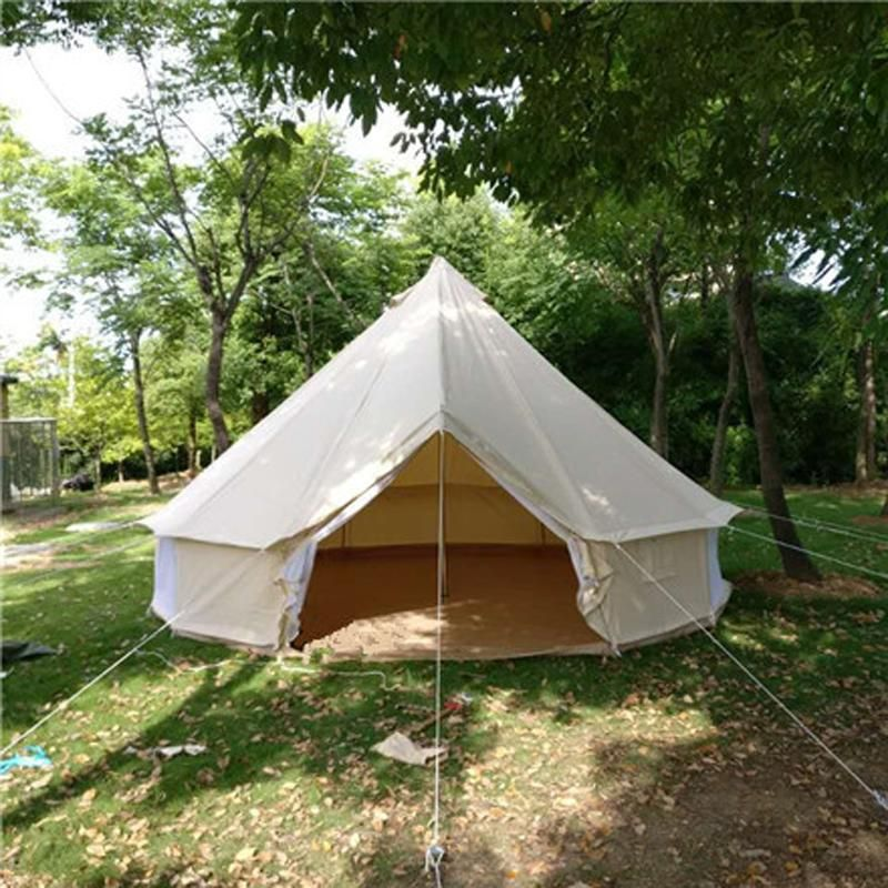 Canvas Tent With Window And Chimney Opening Tent Glamping Tent Bell Tent