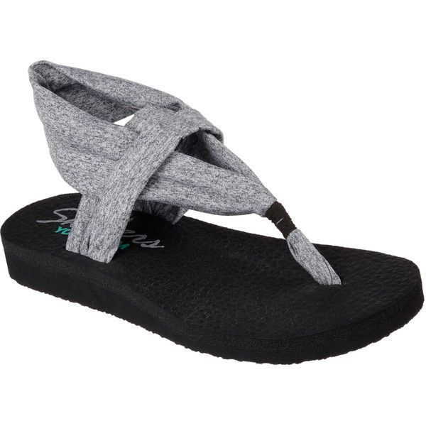 Women's Skechers Meditation Studio Kicks Thong Sandal, Size: 10 M, Gray