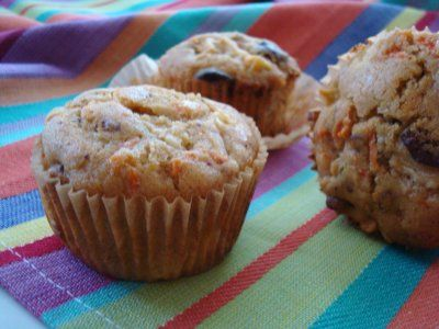 Cherry carrot apple muffins