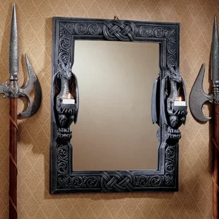 World Menagerie Moretown Celtic Sacred Moon Triple Goddess Mother Maiden Crone Eclectic Accent Mirror Wayfair In 2020 Mirror Design Wall Modern Mirror Wall Mirror Wall