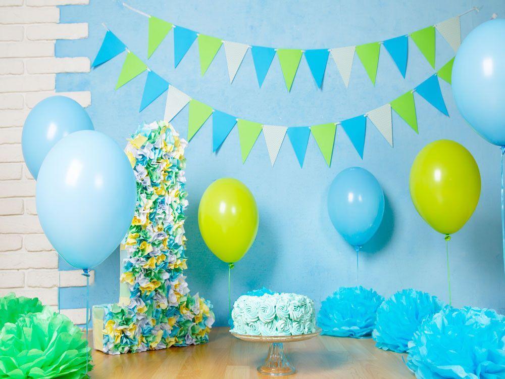 Birthday Party Backdrops Cake Background Balloons Backdrops HJ04937