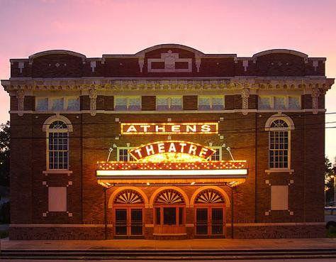 Restored Athens Theater At Night Deland Fl Deland Nightlife