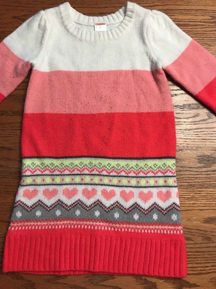 c7978e99726 Gymboree Girls Size 5 Play By Heart Sweater Dress Valentine s Day ...