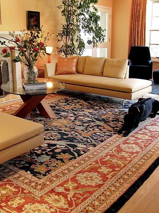 Rooms with oriental rugs google search rugs for Modern living room persian rug
