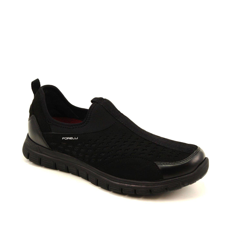حذاء مريح ستريتش جلد أسود رجالي All Black Sneakers Sneakers Shoes
