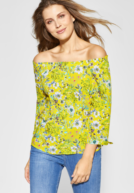 finest selection 33698 d61e9 CECIL - Carmen Bluse mit Blumenprint in Lemon Drop in 2019 ...