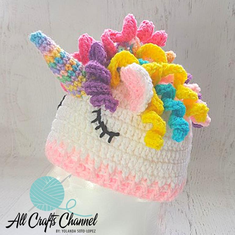 Easy Crochet Unicorn Beanie / Hat | Pinterest | Manualidades ...