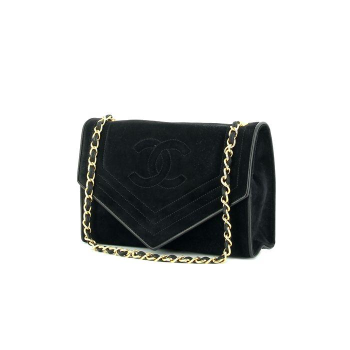 79956030d26 Chanel Vintage en daim noir Daim Noir