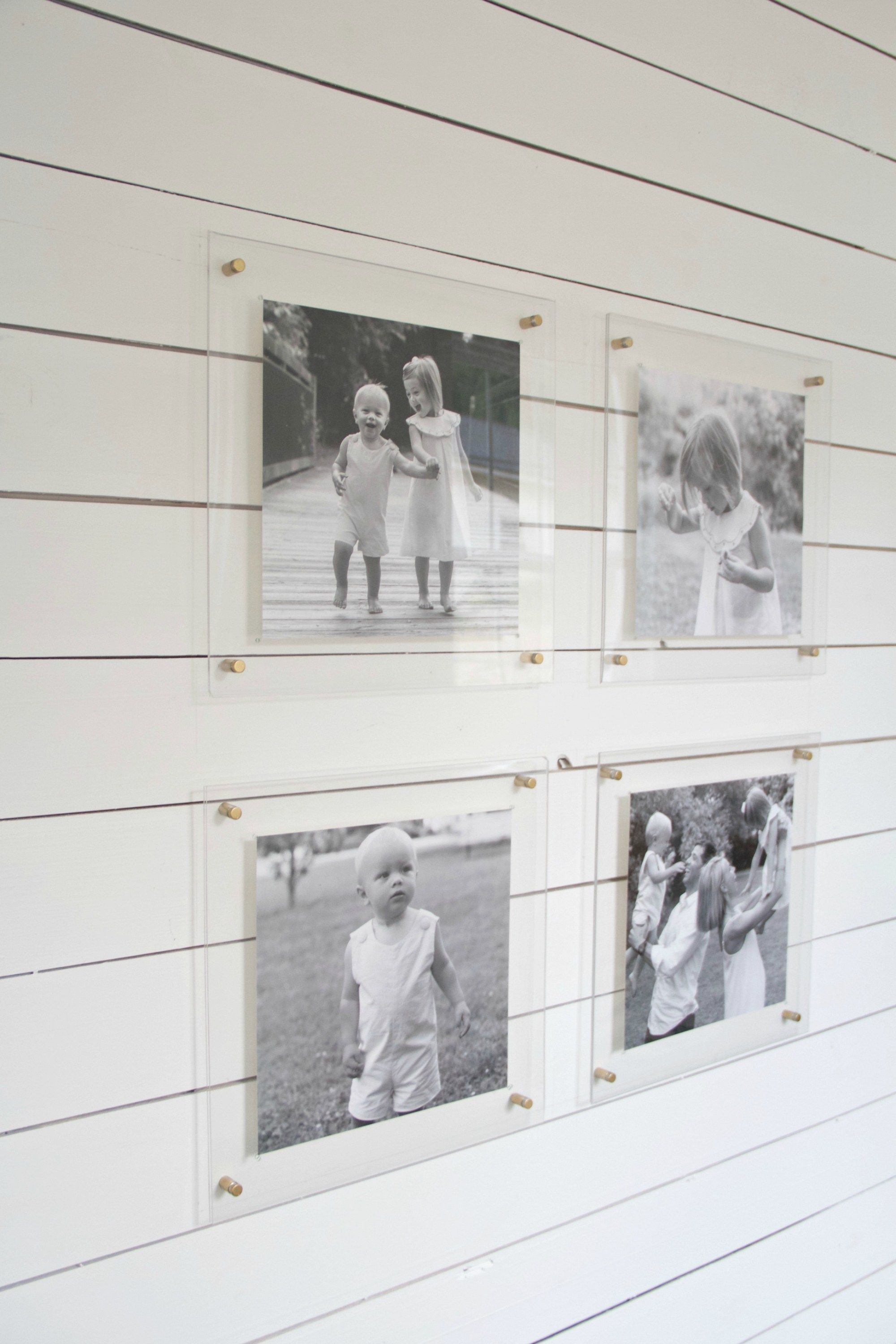 Lately I\'ve been obsessed with the idea of lucite frames in our ...