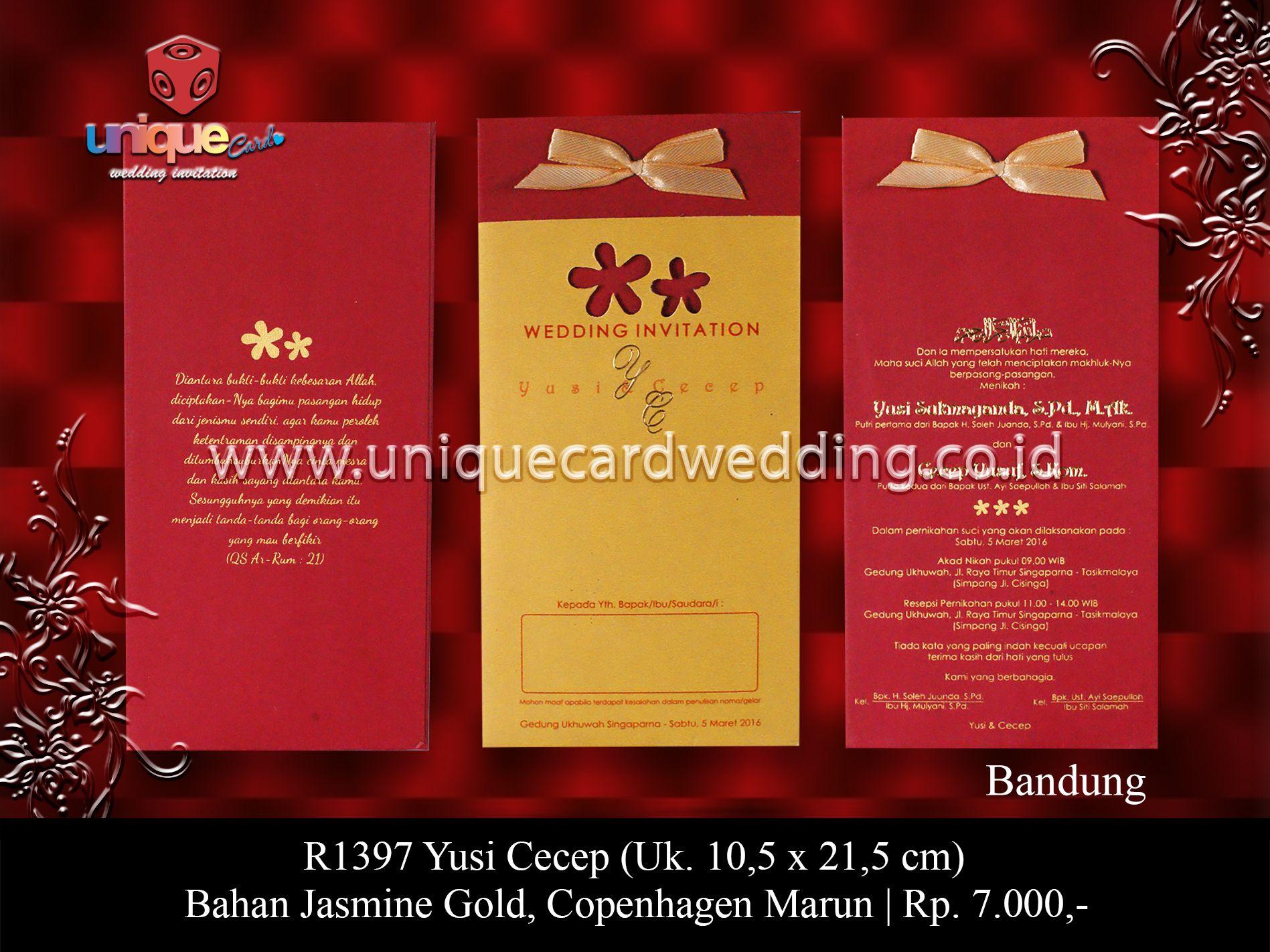 unique card wedding invitation Bandung-West java. Indonesia + ...