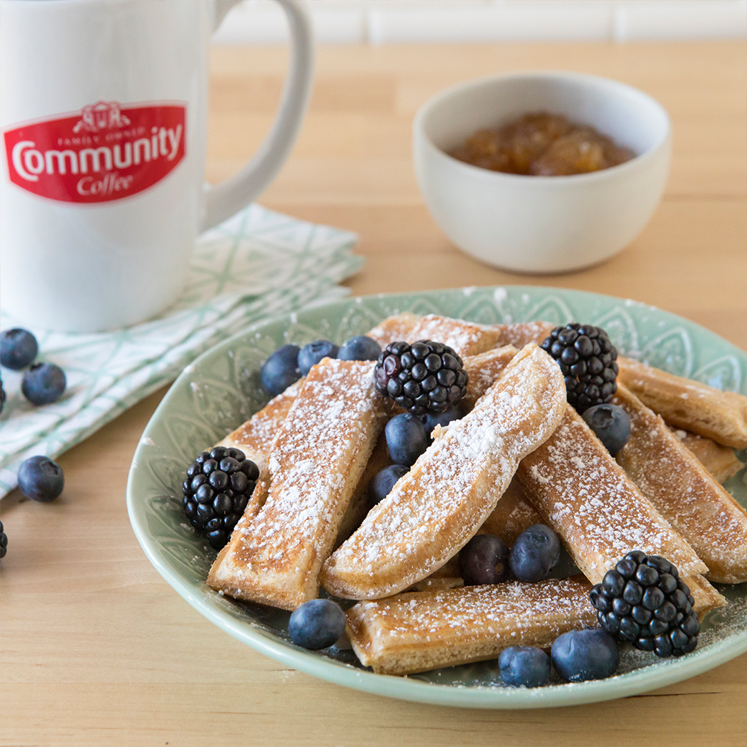 These French Toast Strips are perfect for dunking in your