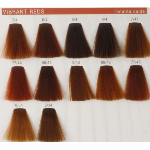 Wella professionals koleston perfect presents the color vibrant reds amanda lock hair colours golden red and reddish blonde also best images charts dyes rh pinterest