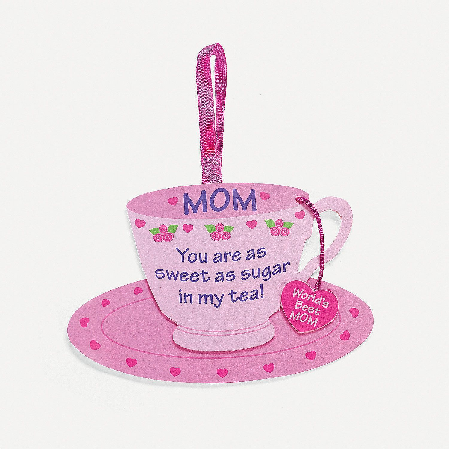 mom u201d tea cup ornament craft kit for mother u0027s day mother u0027s day