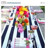 black and white striped table runner - Google Search