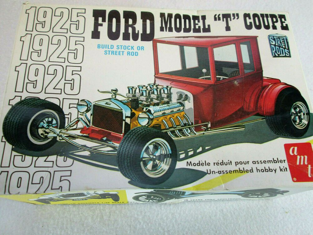 This Is A 1 25th Scale Ford Model T Coupe Plastic Model Kit By Amt It Looks Like All The Parts Were Plastic Model Kits Cars Model Cars Kits Plastic Model Kits