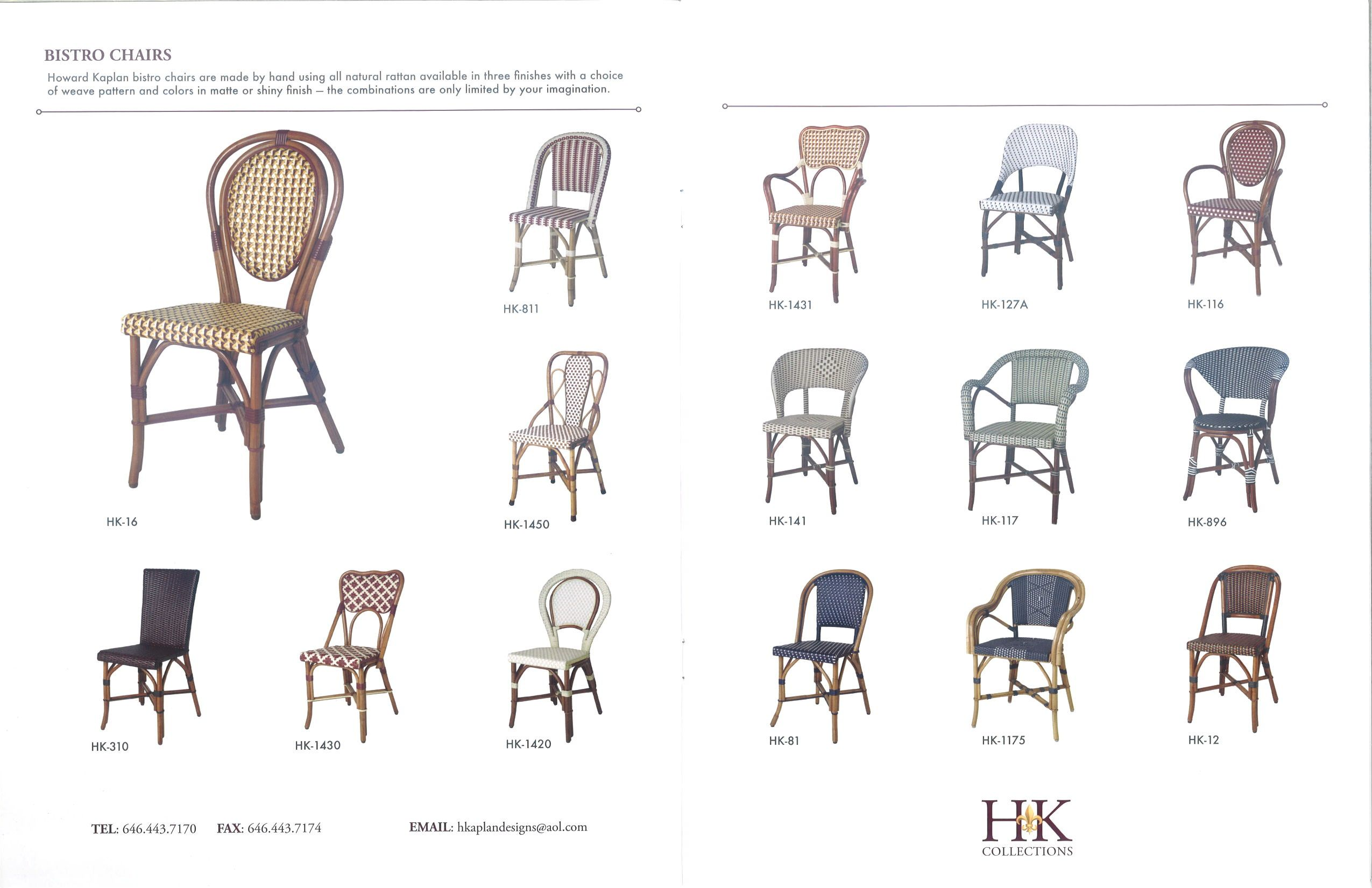 Merveilleux Rattan French Bistro Chairs   Howard Kaplan
