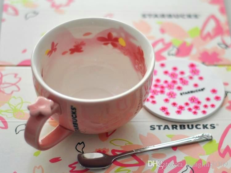 Anese Style Starbucks Cherry Blooming Mug Limited Edition Pink Ceramic Milk Coffee 355ml Blossoms Bowl Cup