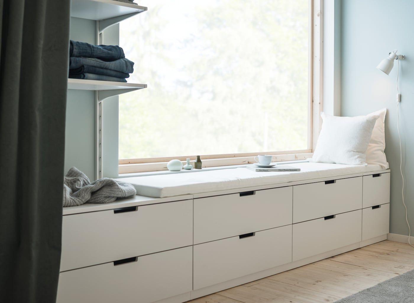 Schlafzimmer gemütlich gestalten   Ikea bedroom, Bedrooms and Interiors