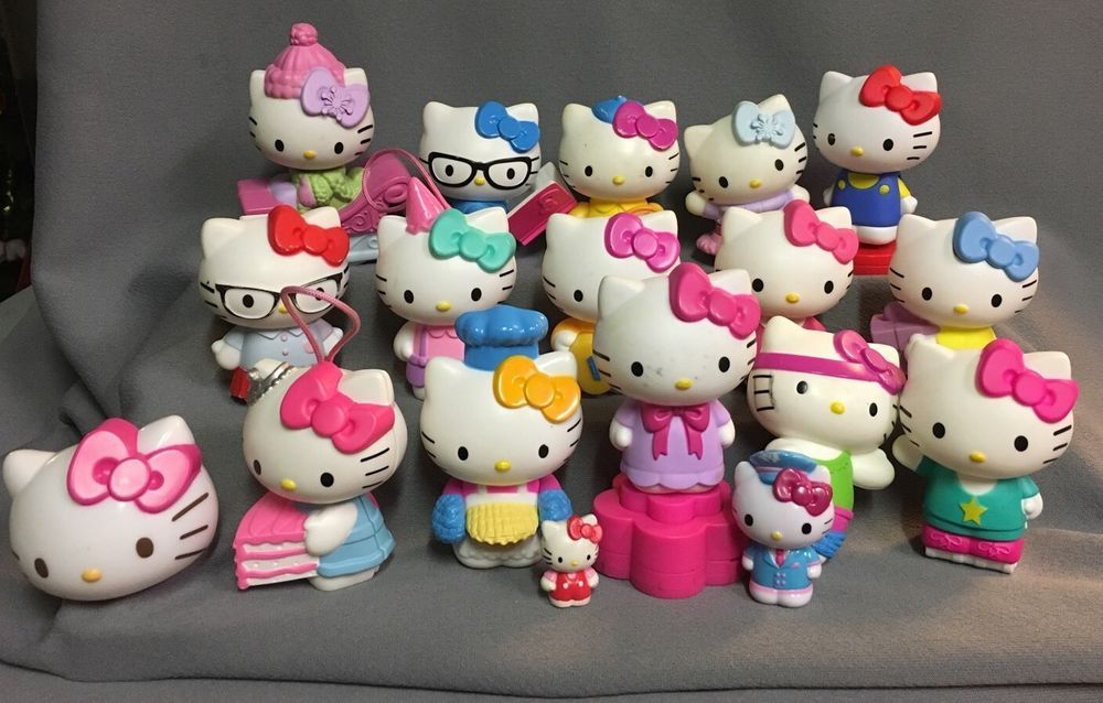 Hello Kitty Lot Of Figurines- Mostly Mc Donald's Happy Meal Toys Lot Of 18