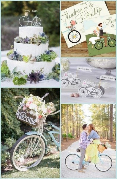 Outdoor Wedding Ideas with Bicycles | HotRef Party Gifts