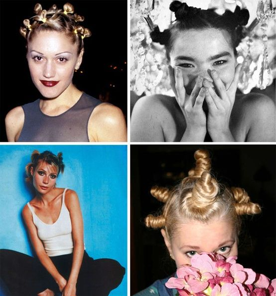 90s Hair Buns 90s Fashion Trending 90s Trends 90s Hairstyles