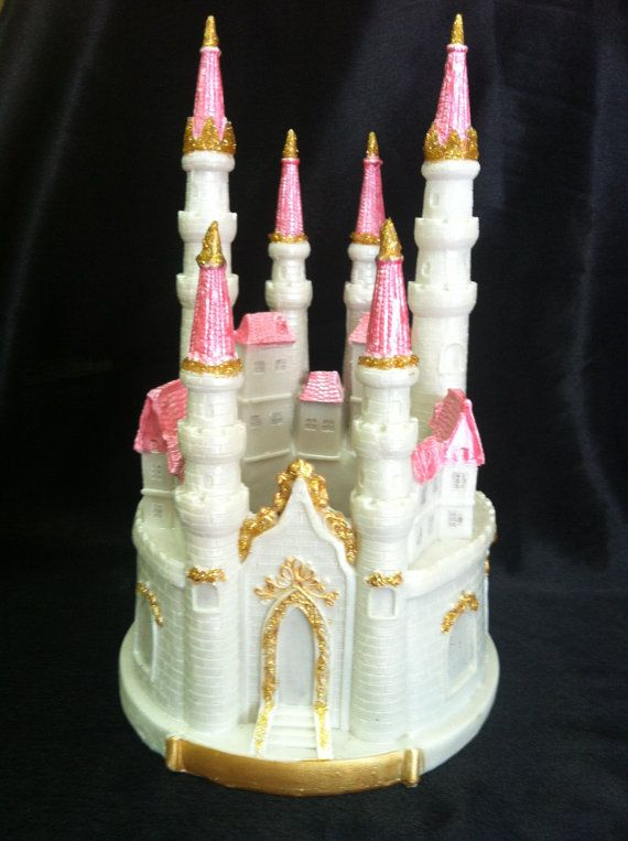 pink castle cake topper princess first birthday blue castle centerpiece princess birthday cake decor princess castle table centerpieces