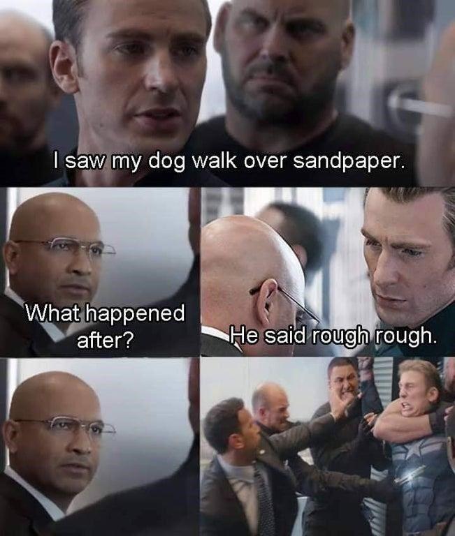 Captain America's Got Dad Jokes For Days In This New Meme #funnyjokes #jokes #jokesandriddles #jokesforkids #jokesforkidshilarious