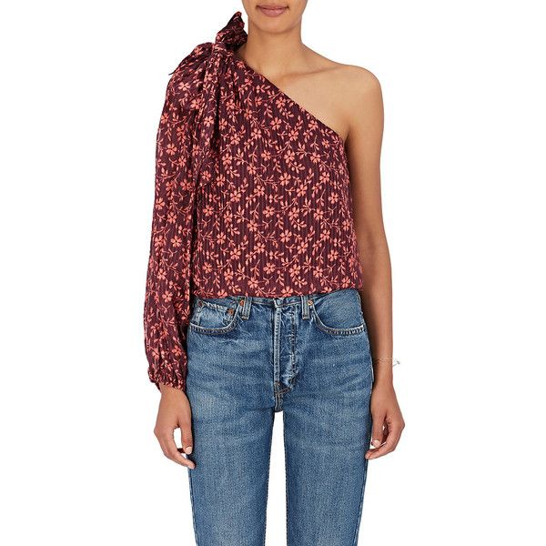 fc5a2f44f3f2c Ulla Johnson Women s Enid Floral Cotton-Silk Blouse (4 140 ZAR) ❤ liked on  Polyvore featuring tops