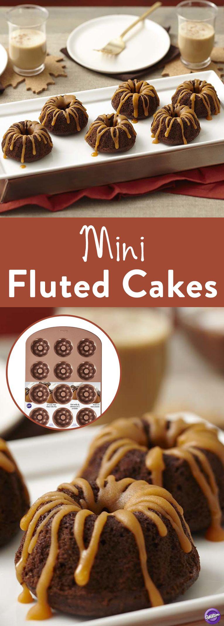 Mini fluted tube bronze cake pan mini bundt cakes mini
