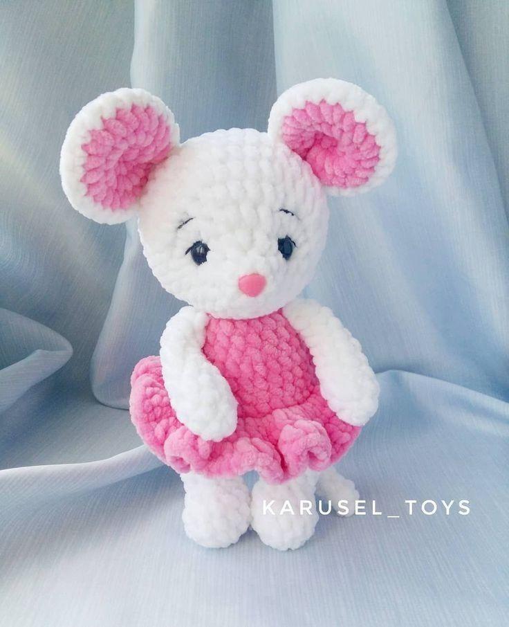 Angelina ballerina amigurumi | Rato de crochê, Brinquedos de ... | 906x736