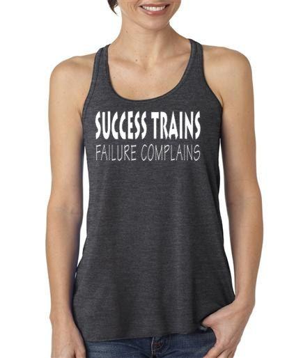 Success Trains Failure Complains Racer Back by AmarisCloset, $25.25
